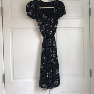 Betsey Johnson black and white bow dress, size 2